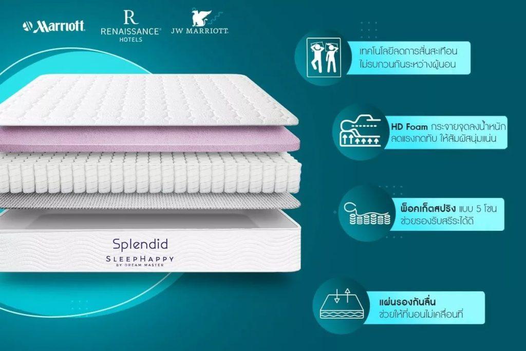 ที่นอน Splendid จาก SleepHappy
